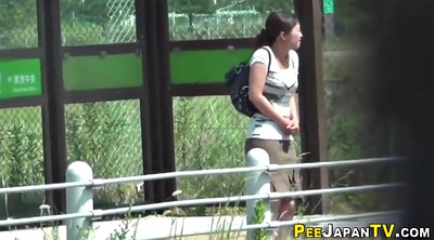Watching, Japanese outdoor, Japanese watching, Outdoor peeing