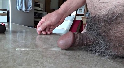Japanese handjob, Watching, Asian granny