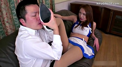 Pantyhose, Nylon feet, Nylon handjob, Shoes, Pantyhose feet, Asian nylon