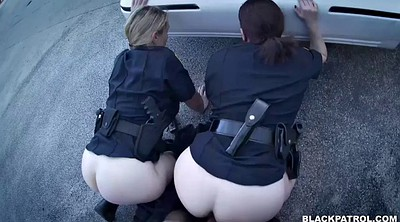 Police, Chubby wife, Chubby interracial