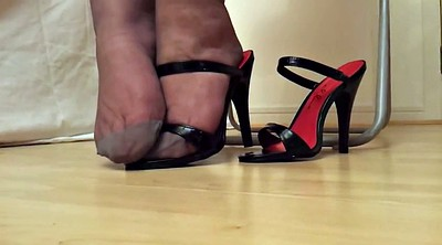 Heels, Flash, Black stockings