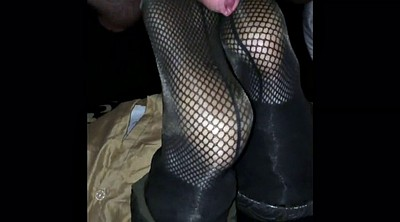 Nylon footjob, Nylon feet, Nylons footjob