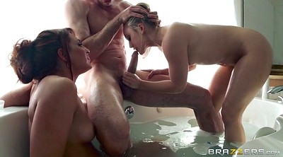 Shower, Threesome shower, Sharing, Savannah