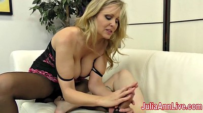 Julia ann, Foot slave, Julia, Milf feet, Feet slave