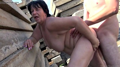 Bbw mature, Granny outdoor