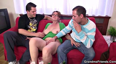 Mature anal, Anal granny, Old granny anal, Hot threesome