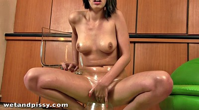 Big squirting, Glasses, Teen squirt
