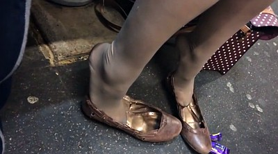 Nylon feet, Nylon foot, Shoeplay, Candid, Feet nylon, Foot nylon