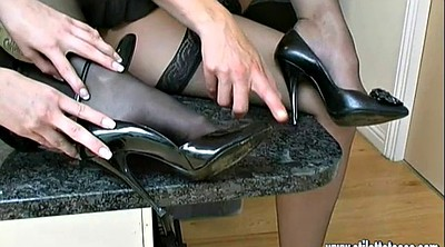 Nylon, Heels, High heels, Shoes, Nylons, Nylon foot