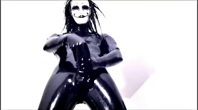 Crossdresser, Mask, Latex masturbation, Gay big dick, Amateur gay