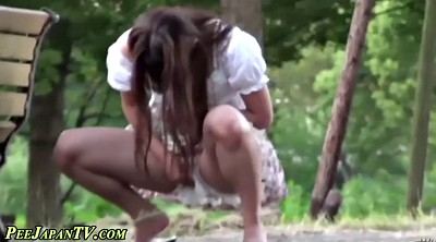 Japanese voyeur, Japanese peeing, Outdoor, Japanese public, Skirt, Asian public