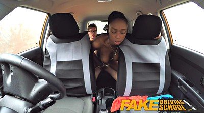 Fake tits, British ebony, Fake drive, Driving, British big tits