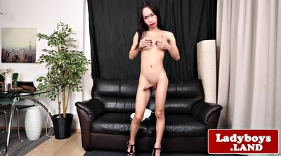 Ladyboy, Latex, Shemale cum