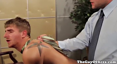 Muscle, Office anal, Boss, Anal cream
