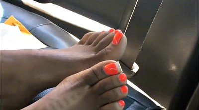 Ebony, Foot fetish, Hood