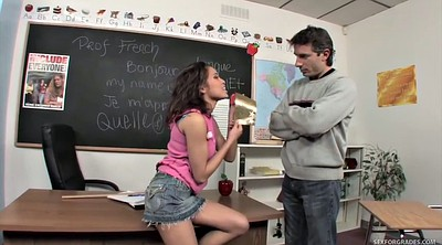 Hot teacher, Teacher student, French teen, Classroom