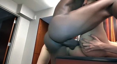 Ebony creampie, Interracial creampie