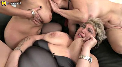 Mom boy, Granny group, Young sex, Three, Mom fuck, Young mom