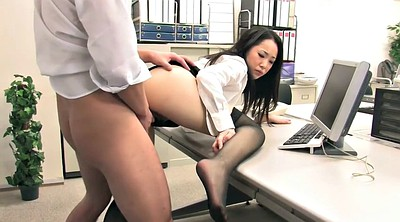 Creampie, Japanese threesome, Work, Working, Japanese work