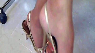 Foot, Office foot, Nylon foot, Office nylon, Nylon milf