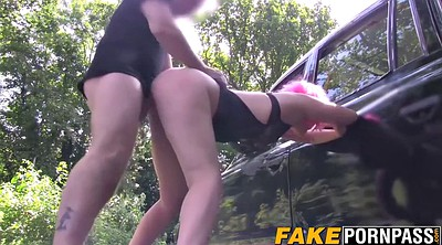 Fat, Misha, Car blowjob