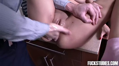 Exam, Brutal, Orgasms, Brunette