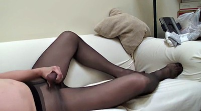 Crossdresser, Pantyhose cock, Solo ebony, Crossdress