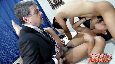 Office gay, Asian daddies