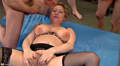 Mature group, Young boy, Mature boy, Granny gangbang