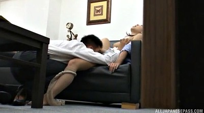 Japanese pantyhose, Japanese handjob, Japanese office