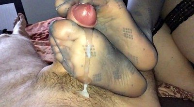 Milk, Milking, Nylon feet, Sole, Nylon feet fetish, Nylon pov