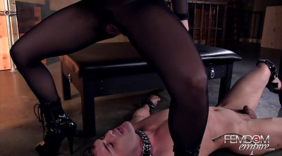 Slaves, Licking pussy, Boots slave