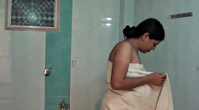 Indian aunty, Bathroom, Aunty, Dressed