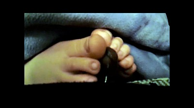 Ebony, Black foot, Under, Black footjob