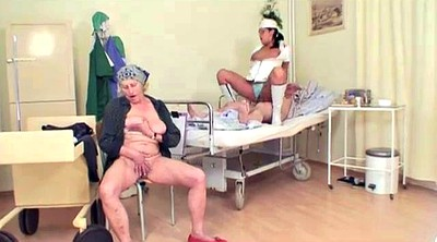 Old grandpa, Hospital, Watching, Grandpa granny, Granny grandpa, Threesome mature