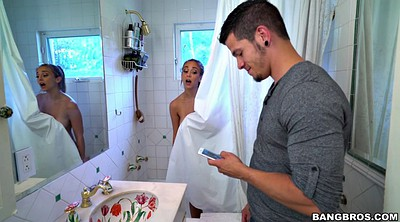 Shower, Piercing, Spying, Layla london, Bathroom