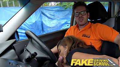 Fake taxi, Young creampie, Driving school, Drive