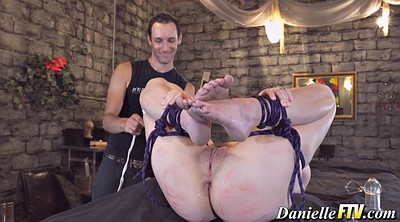 Bondage, Hairy pussy, Tit tied, Tied anal, Hairy man