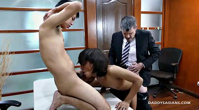 Gay boys, Young boy, Old gay, Asian daddy, Old daddy, Interracial threesome
