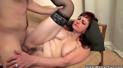Old & young, Mom sex, Cum shots