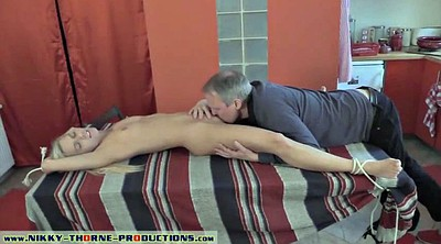Granny, Old young, Uncle, Bondage blowjob