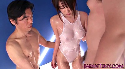 Squirting, Japanese threesome, Busty asian, Japanese busty, Asian squirting