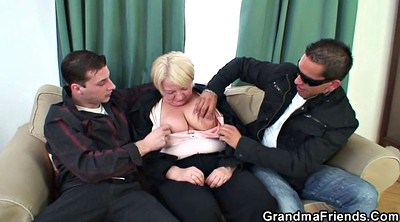 Granny mature, Young and old, Pick up, Granny threesome