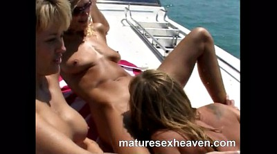 Granny group, Mature group, Yacht, Mature orgy, Granny orgy