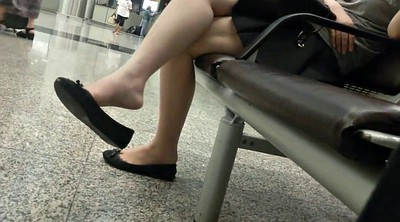Leg, Asian feet, Candid, Asian voyeur, Sexy leg, Feeting