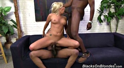 Rough threesome, Rough interracial
