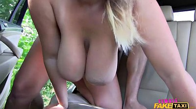 Female, Fake taxi, Milking tits