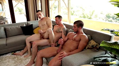 Muscle, Interview, Threesome casting