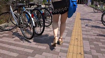 Japanese voyeur, Japanese leggings, Walking, Walk