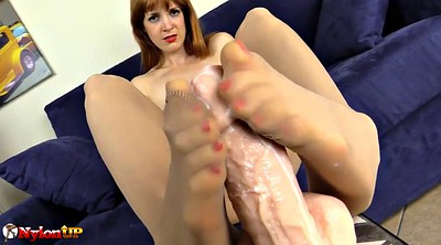 Footjob, Pantyhose footjob, Pantyhose feet, Only